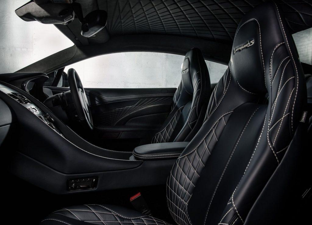 Aston Martin-Vanquish S, передние сиденья