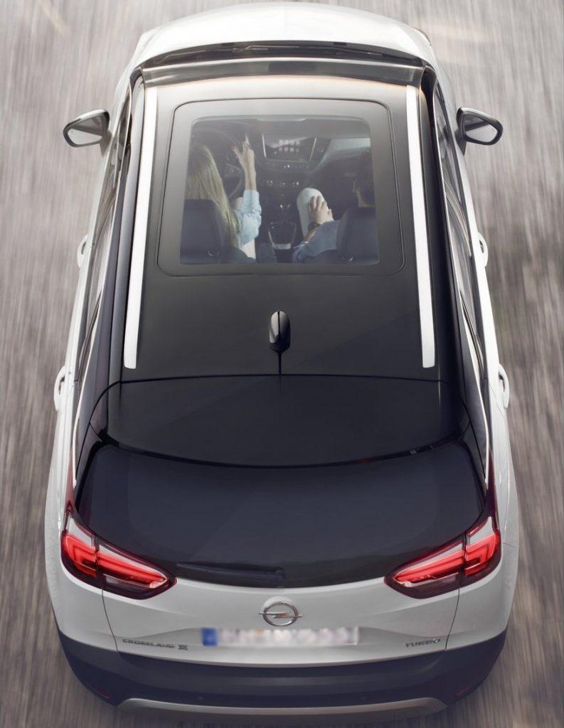 Новый Opel Corssland X, вид сверху