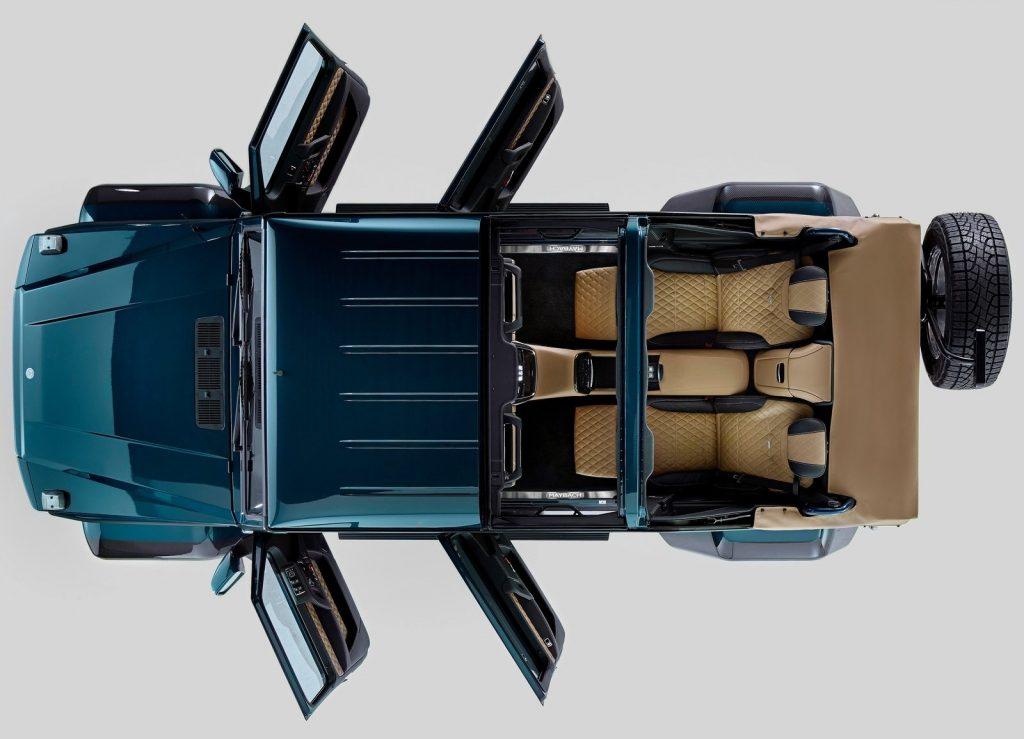 Mercedes-Maybach G650, вид сверху