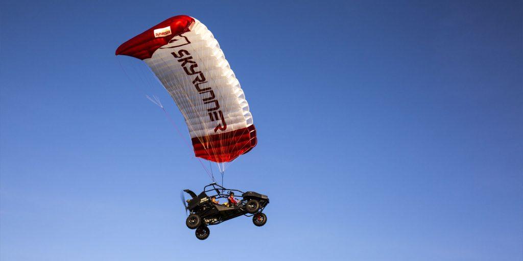 Parajet SkyCar – сочетание квадрацикла и параплана