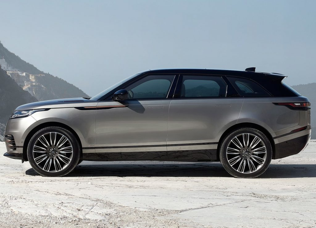 Range Rover Velar, вид сбоку