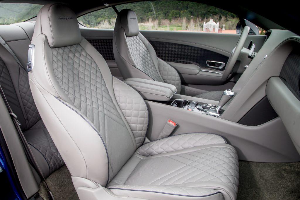 Новый Bentley Continental Supersports, передние сиденья