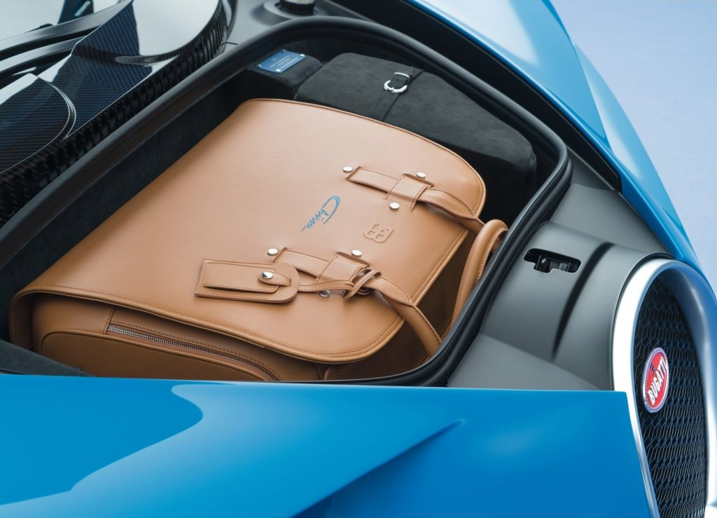 Bugatti Chiron, багажник