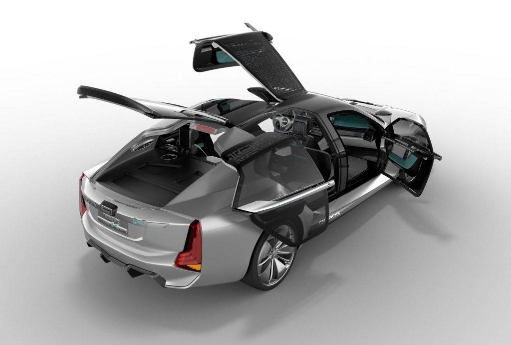 Новый Qoros K-EV, вид сверху