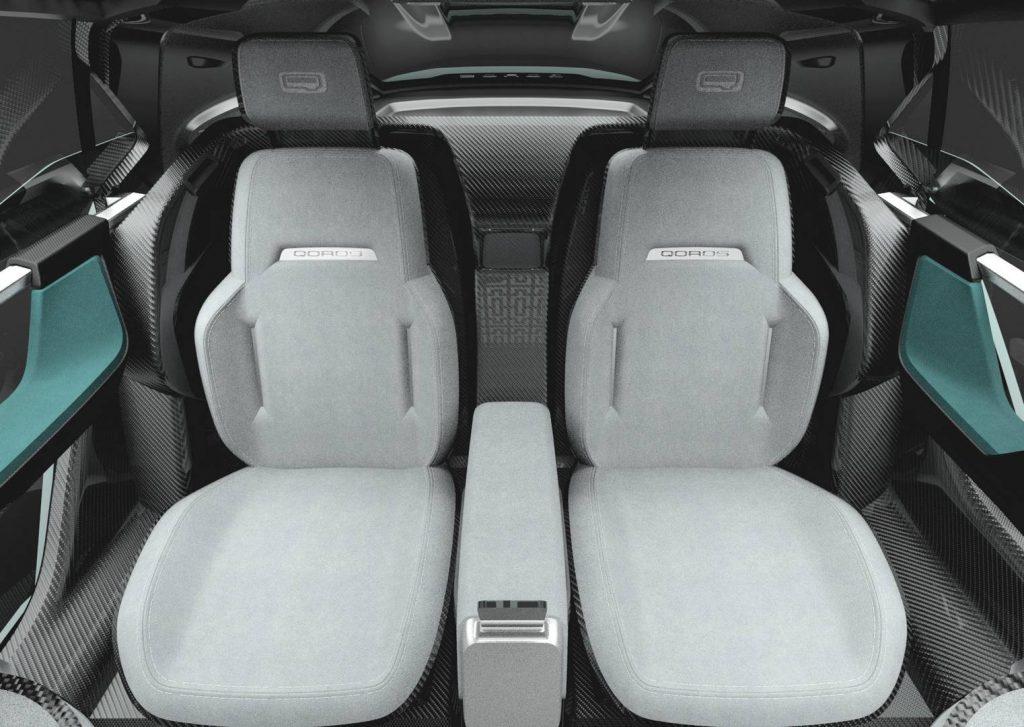Qoros K-EV 2017, задние сиденья