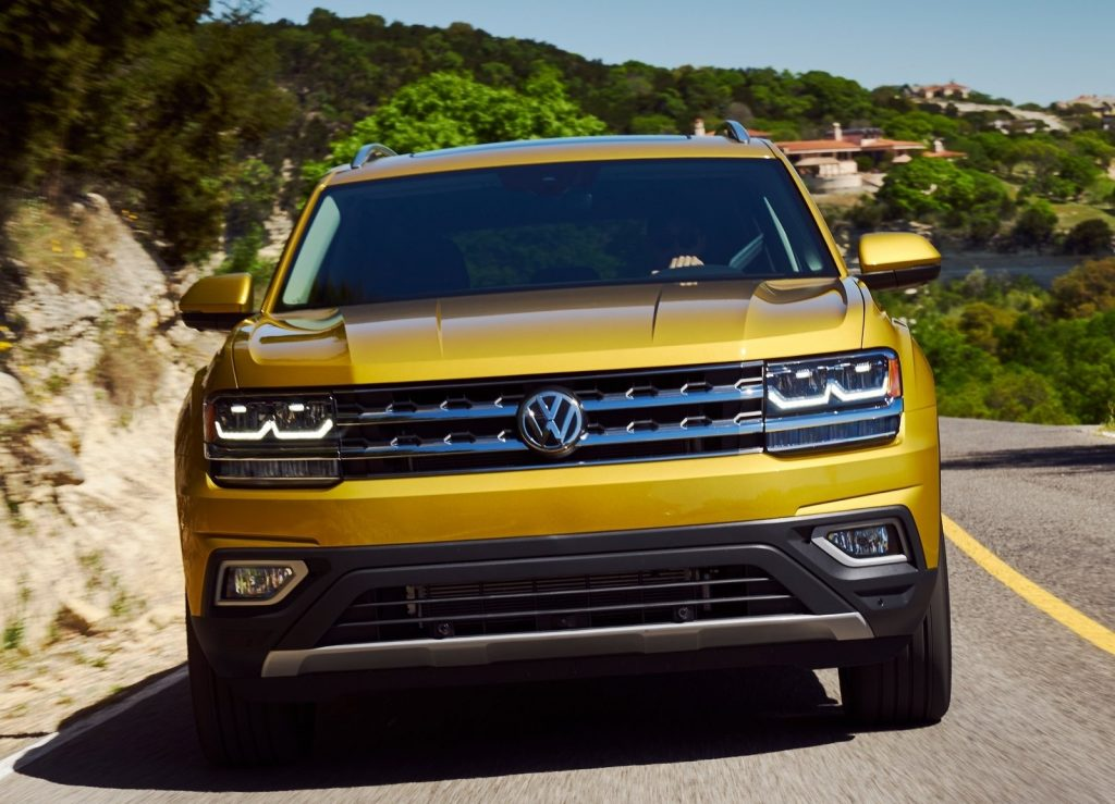 Volkswagen Atlas 2018, вид спереди