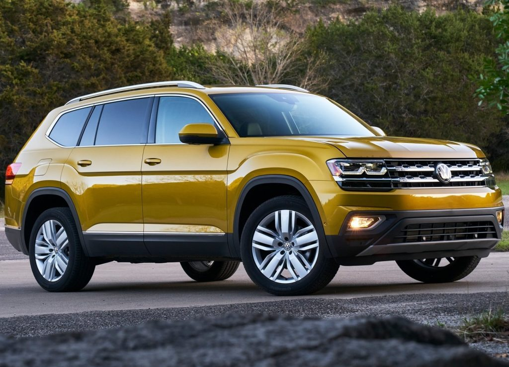 Volkswagen Atlas 2018, вид на переднюю диагональ