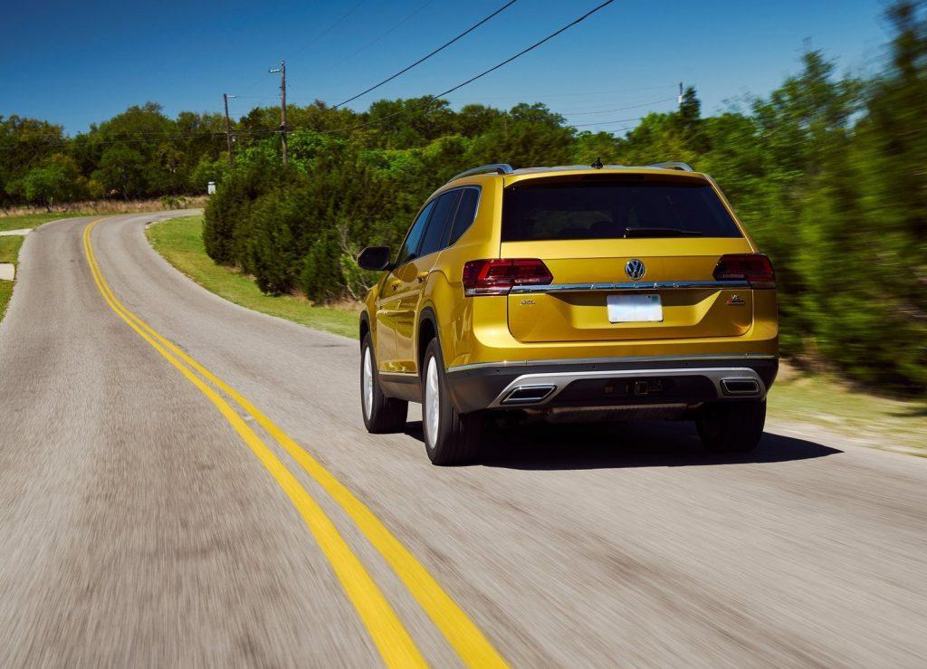 Volkswagen Atlas, вид сзади