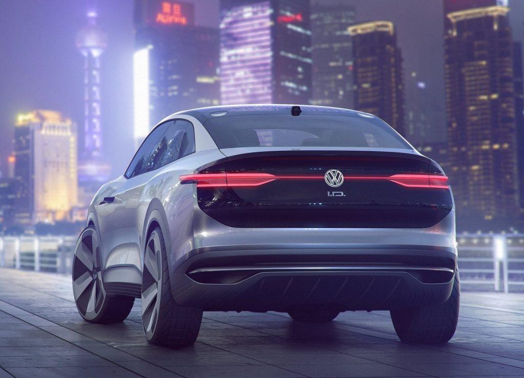 Volkswagen I.D. Crozz, вид сзади