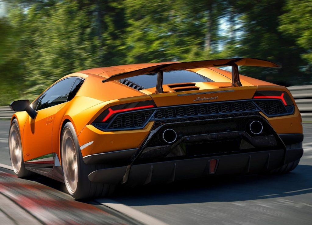 Lamborghini Huracan Performante 2017, вид сзади