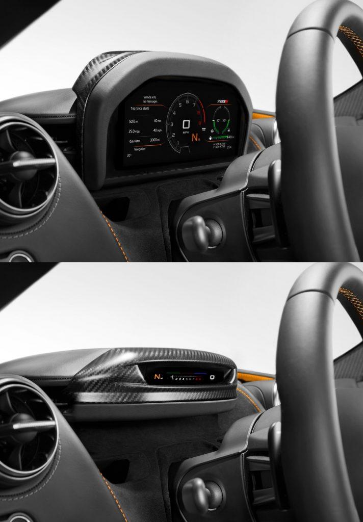 McLaren 720S, складывающаяся панель приборов
