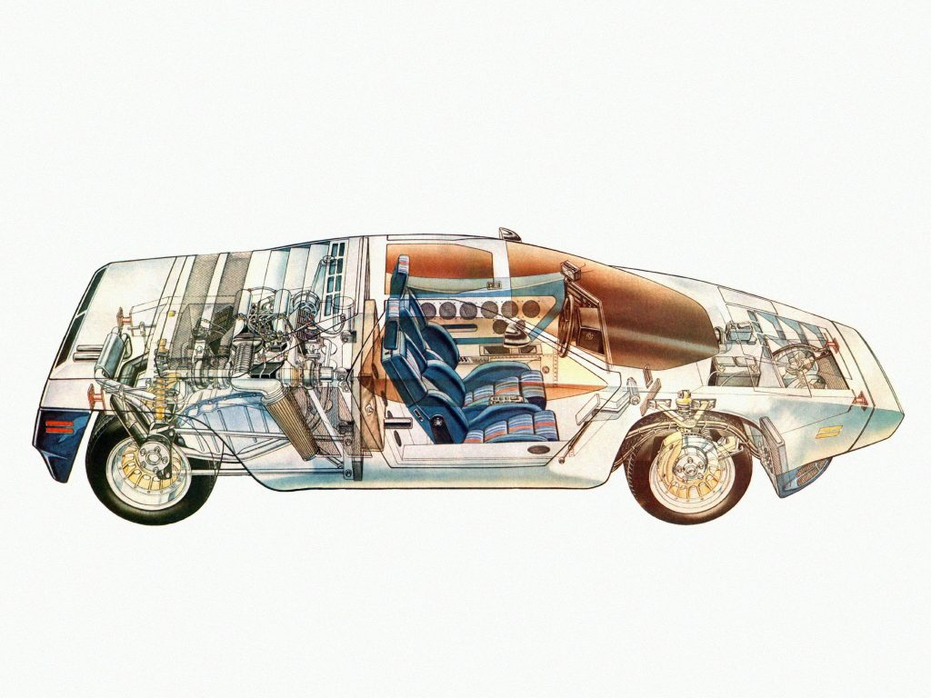 Двигатель V8 размещен поперечно в базе