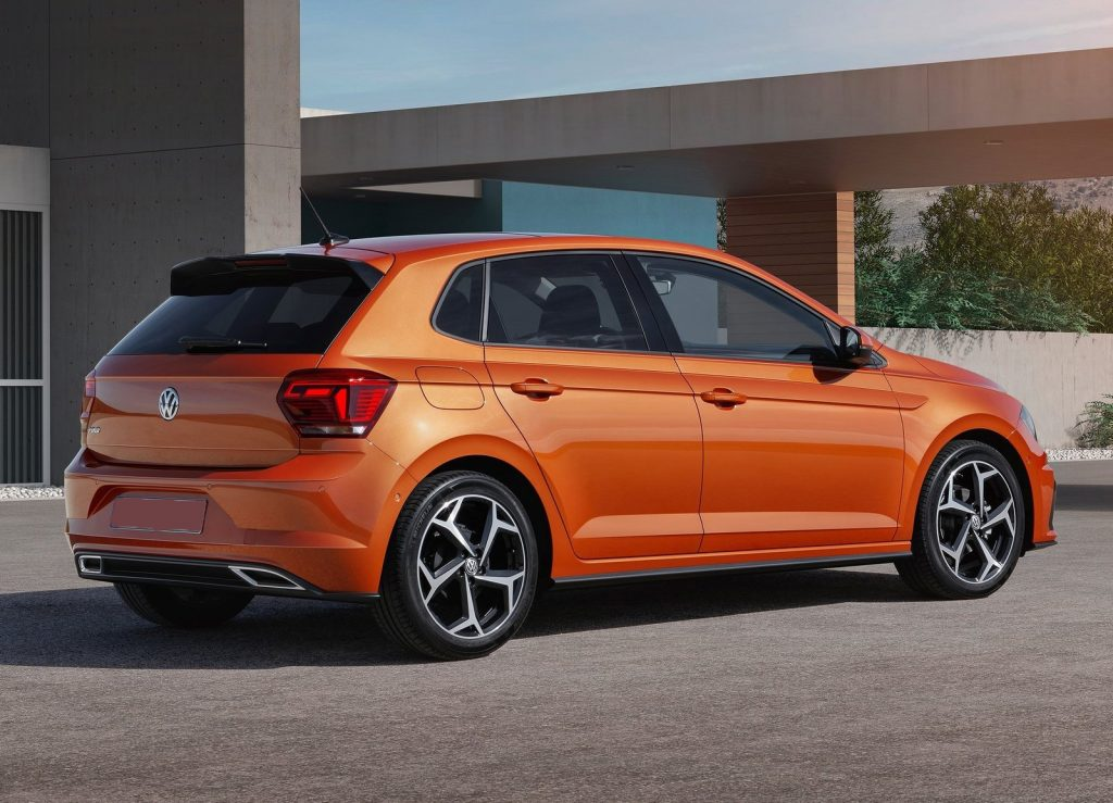 Volkswagen Polo, вид на заднюю диагональ
