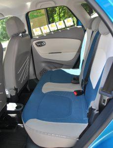 Renault Captur, задние сиденья