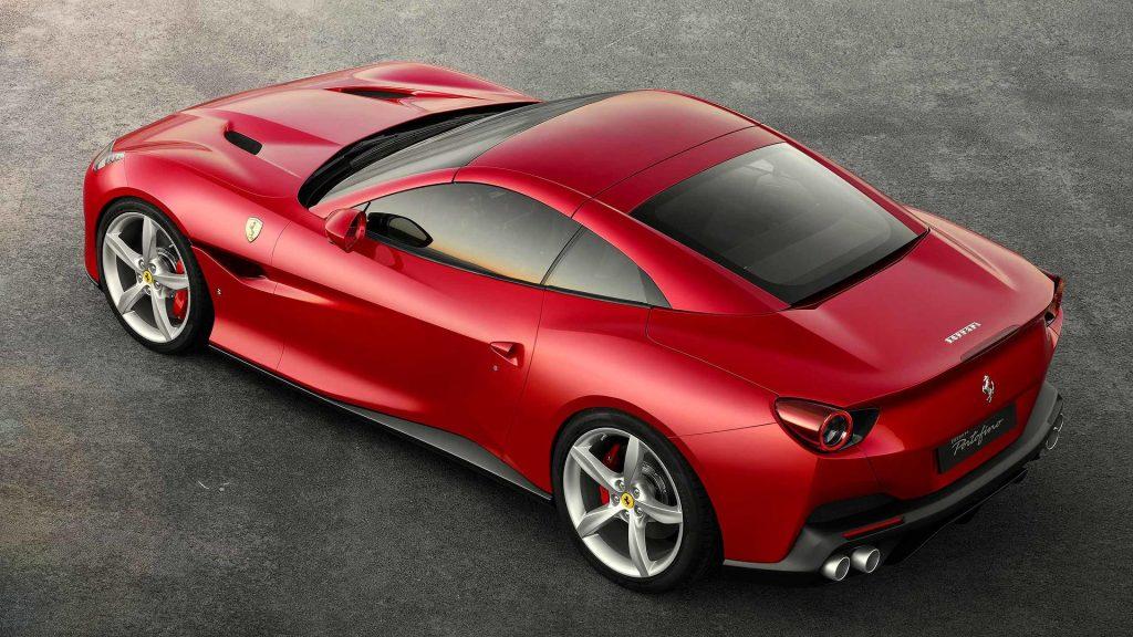 Ferrari Portofino, вид сверху