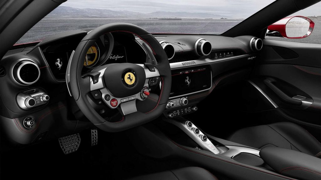 Новый Ferrari Portofino, салон