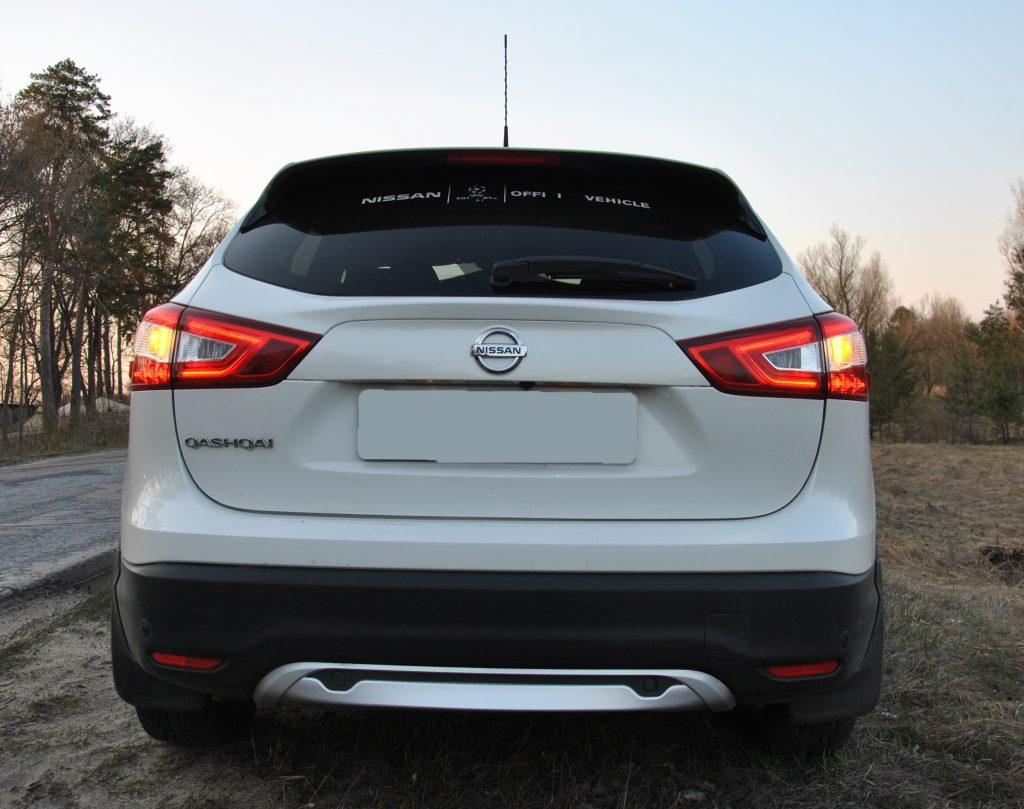 Новый Nissan Qashqai, вид сзади
