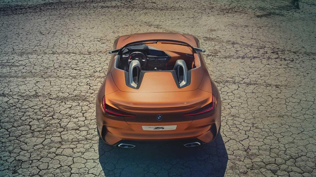BMW Roadster, вид сзади