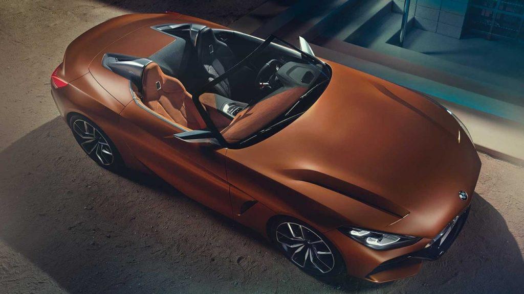 BMW Roadster 2017, вид сверху