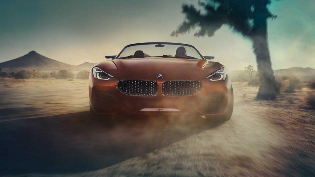 Концепт-кар BMW Roadster, вид спереди