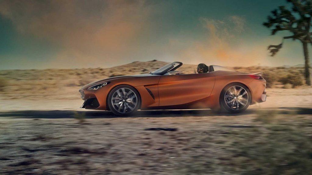 BMW Roadster, вид сбоку