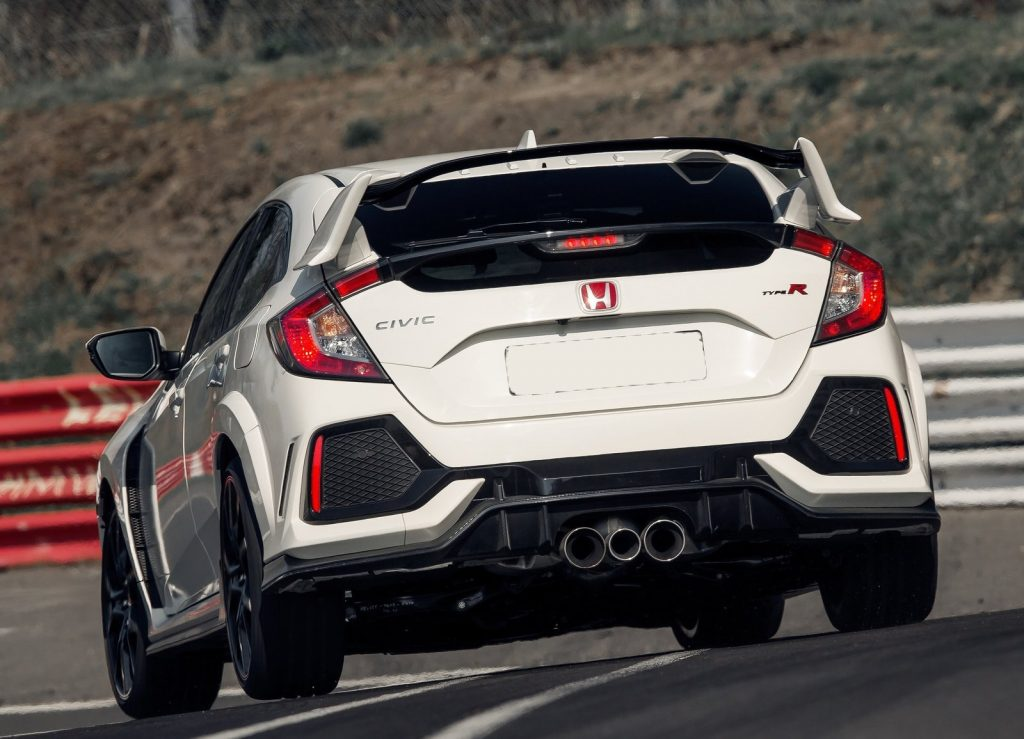 Honda Civic Type R, вид сзади