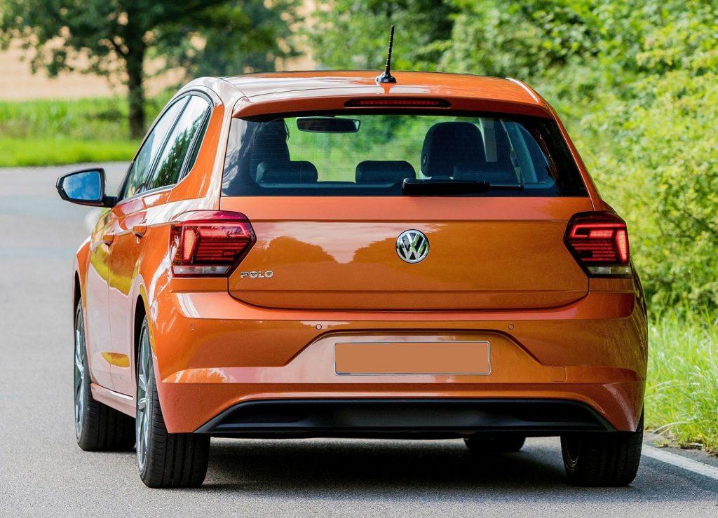 Новый Volkswagen Polo, вид сзади