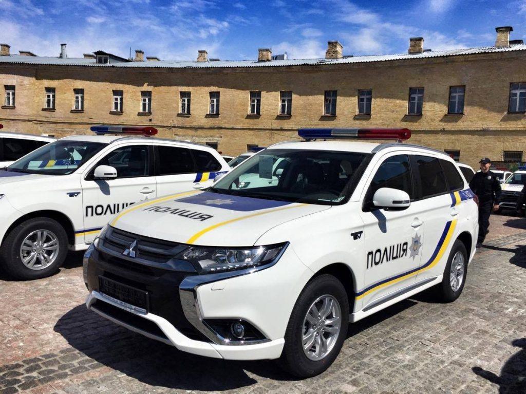Гибриды Mitsubishi Outlander PHEV украинской полиции