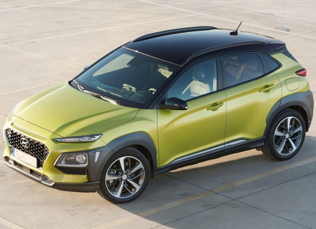 Hyundai Kona, вид на переднюю диагональ