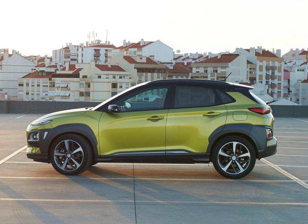 Hyundai Kona 2017, вид сбоку