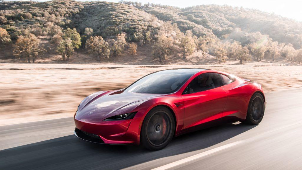 Tesla Roadster, вид на переднюю диагональ