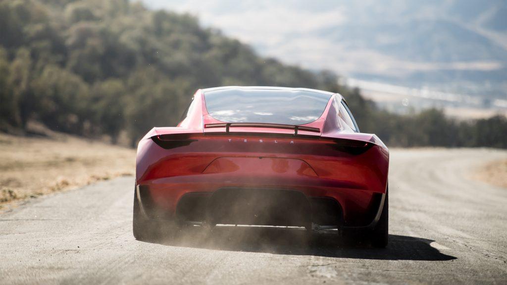 Tesla Roadster 2020, вид сзади