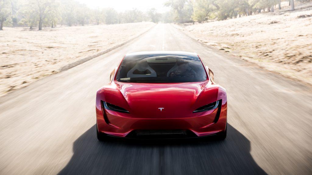 Tesla Roadster 2020, вид спереди