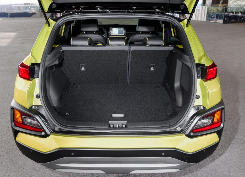 Hyundai Kona, багажник