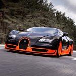 Bugatti Veyron Super Sport во время рекордного заезда в 2010 году
