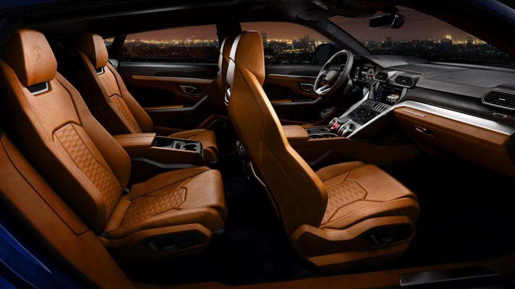 Новый Lamborghini Urus, сиденья