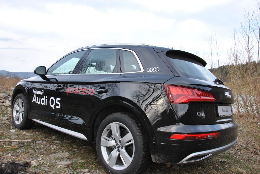 Audi Q5, вид на заднюю диагональ