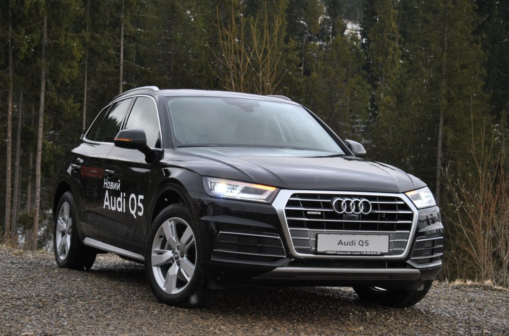 Audi Q5, вид на переднюю диагональ