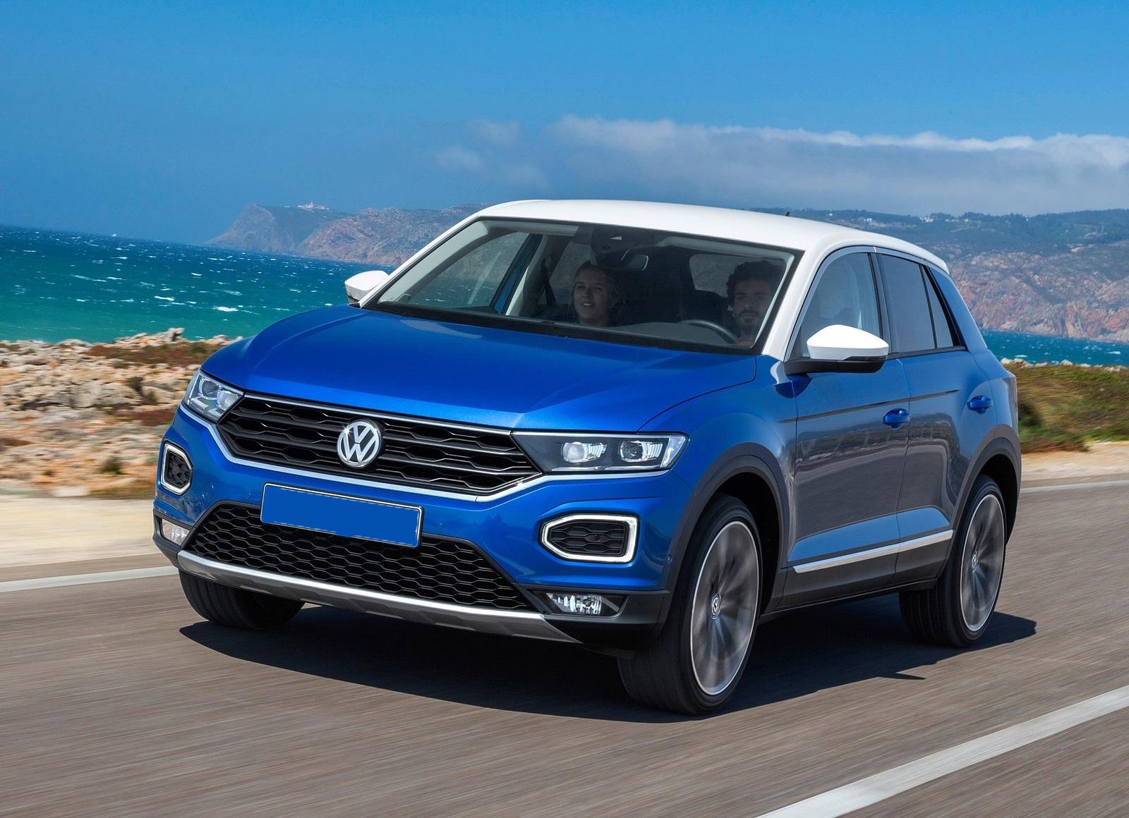Volkswagen T-Roc 2018, вид спереди