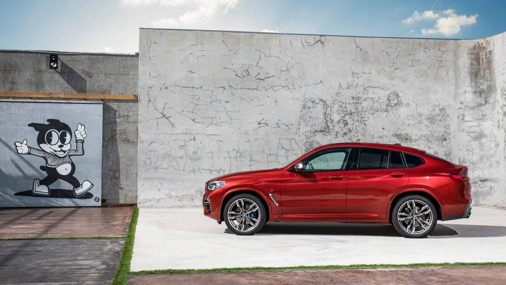 BMW X4 2018, вид сбоку