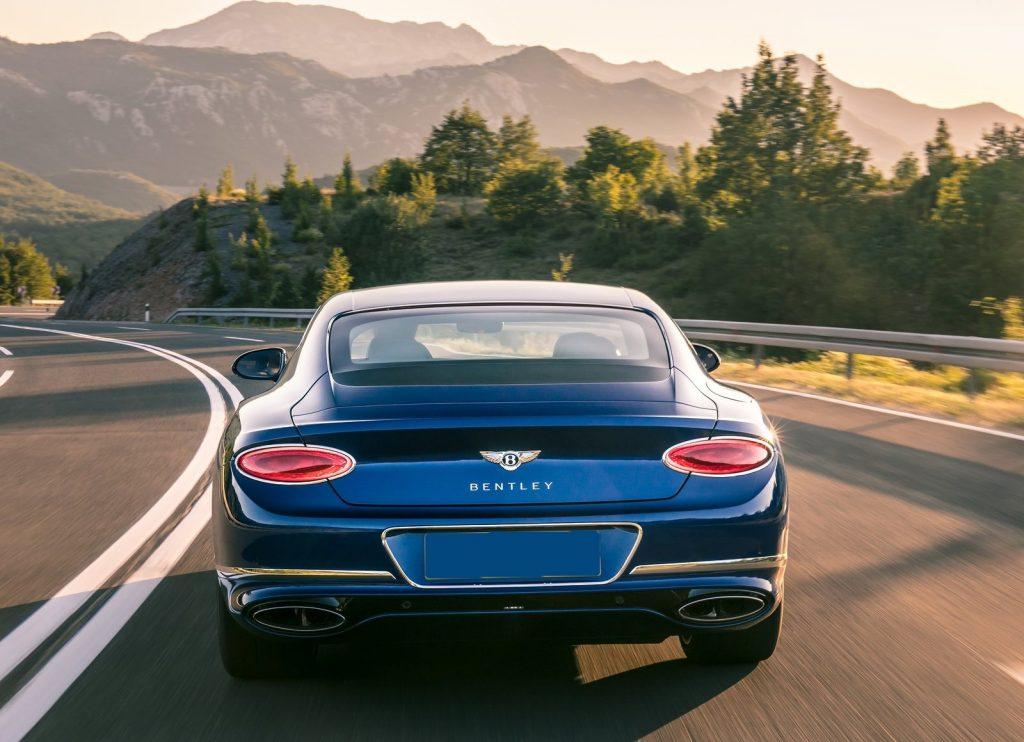 Новый Bentley Continental GT, вид сзади