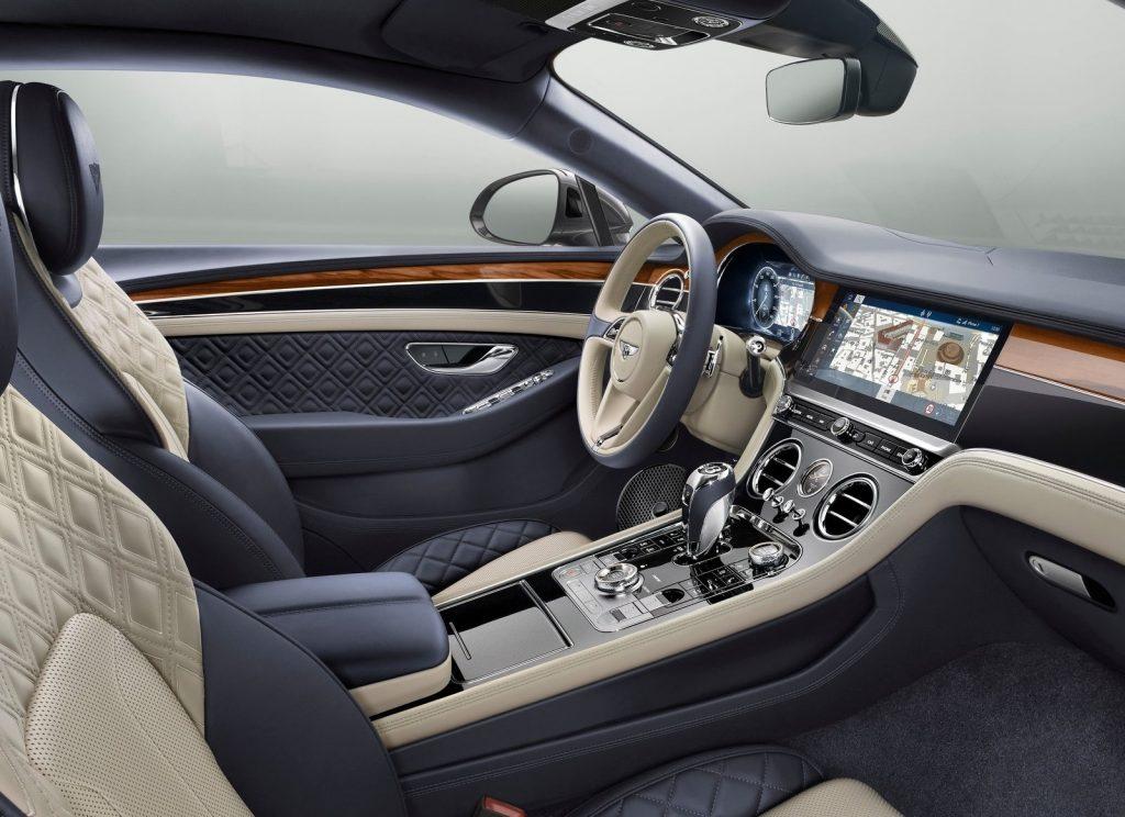 Bentley Continental GT, передние сиденья