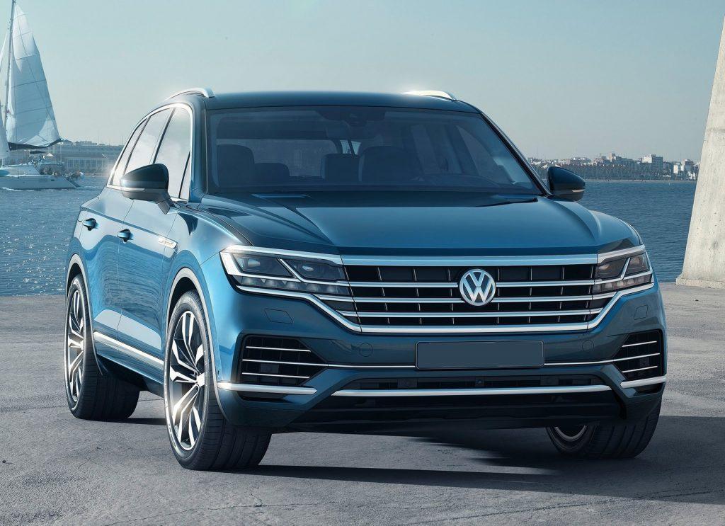 Volkswagen Touareg 2018, вид спереди