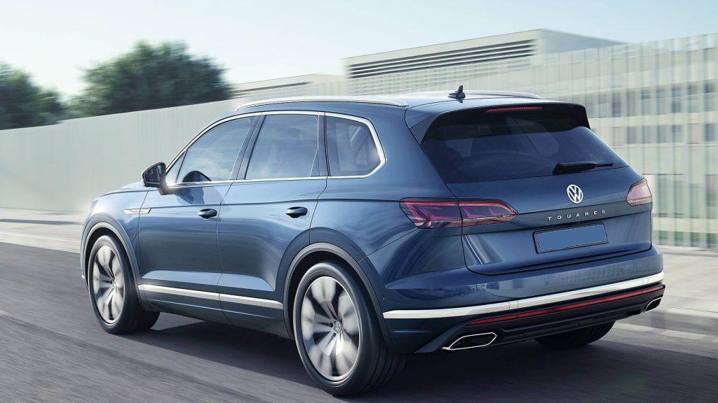 Volkswagen Touareg, вид на заднюю диагональ