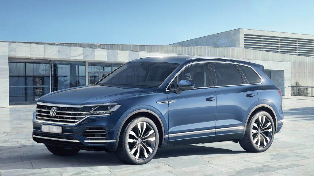 Volkswagen Touareg 2018, вид боку