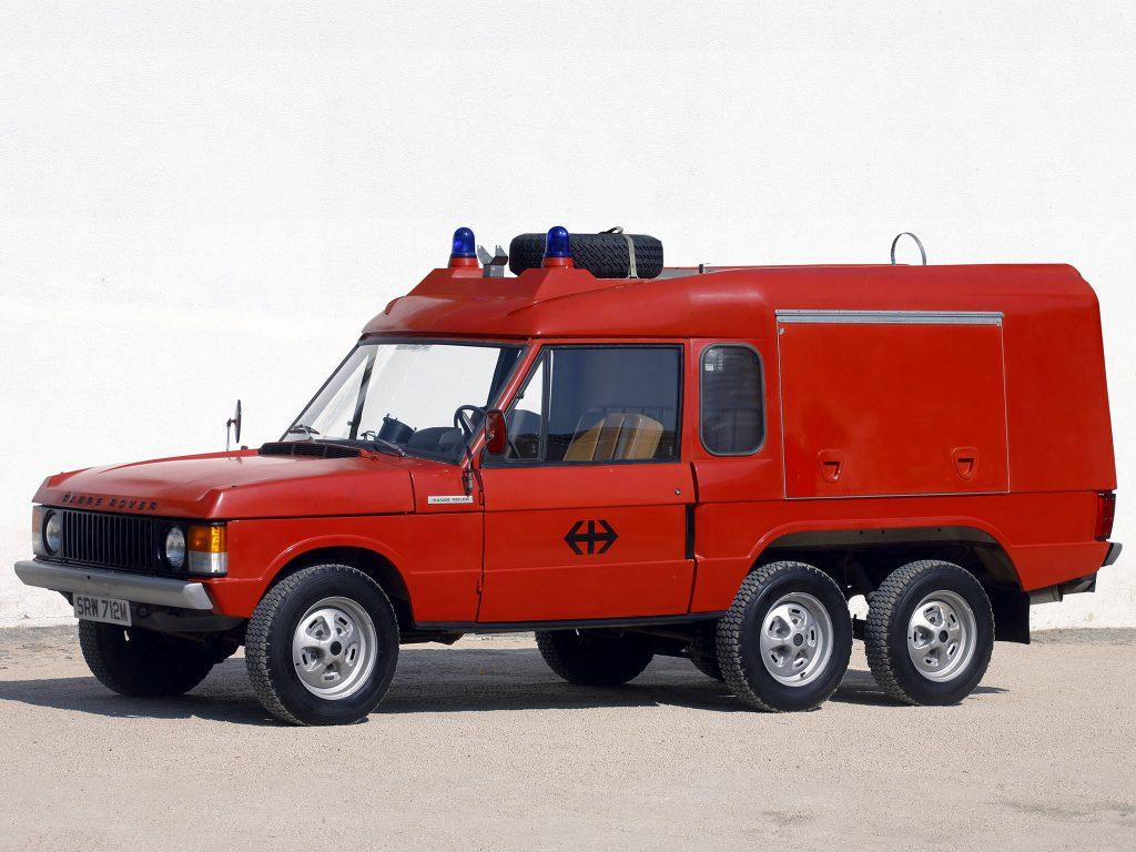 Шестиколесный пожарный Range Rover 1972 года