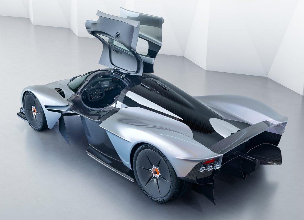 Aston Martin Valkyrie, вид сверху