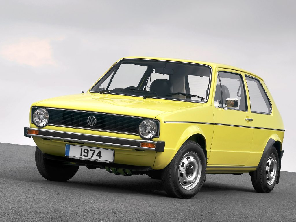 Первый Volkswagen Golf 1974 года