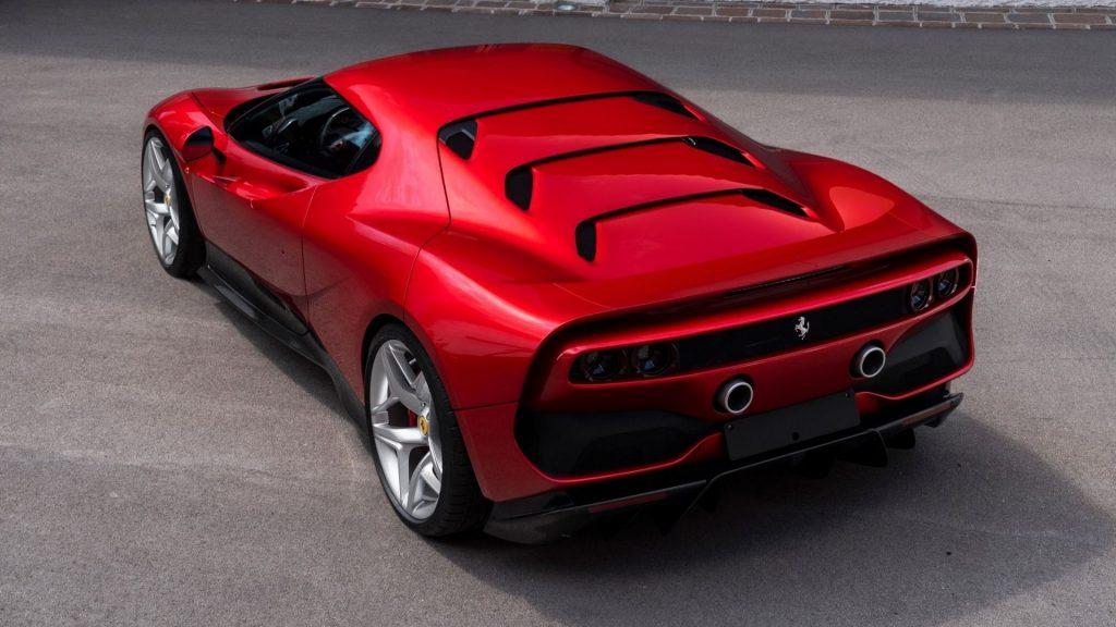 Ferrari SP38, вид сзади