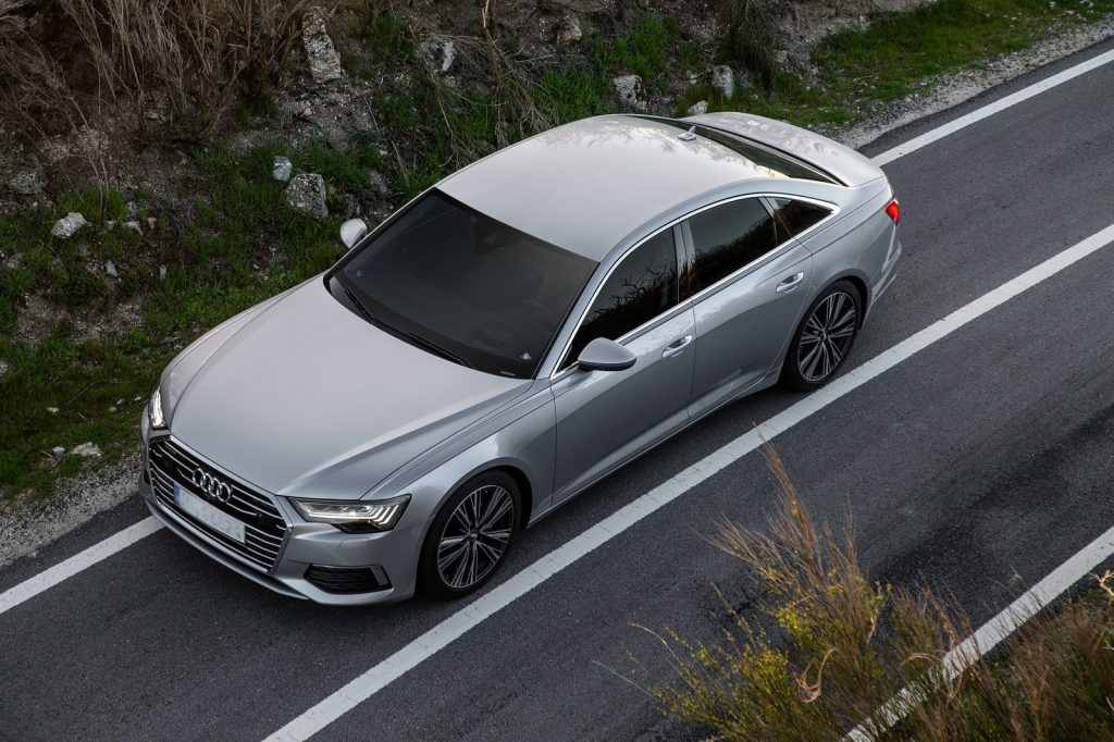Новый Audi A6, вид сверху